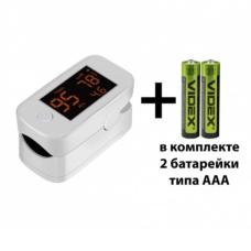 Пульсоксиметр Yimi Life Pulse Oximeter YM101 на палец для измерения сатурации крови с батарейками 5055377844806