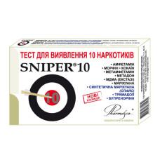 Экспресс-тест на выявление 10 наркотиков Sniper 10 (снайпер 10): амфетамин, морфин, кокаин, метамфетамин, метадон, МДМА (экстази), марихуана, спайс, трамадол, бупренорфин (4820058671139)