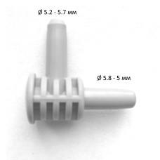 Переходник (коннектор) серого цвета L-образный для автоматических и полуавтоматических тонометров Paramed