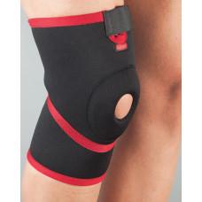 Бандаж на колено неопреновый  Aurafix 101 с открытой чашечкой и силиконовым кольцом
