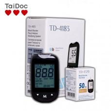 Акция!!! Глюкометр TaiDoc TD-4183  + Тест-полоски на сахар крови TaiDoc TD-4370 100шт.