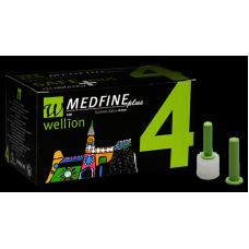 Универсальные иглы Wellion Medfine plus для инсулиновых шприц-ручек 4мм (32G x 0,23 мм) 100шт