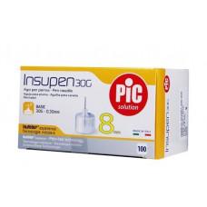 Стерильные иголки INSUPEN для инсулиновых ручек, 30G*8мм(0,30*8мм) 100шт. (8003670863939)