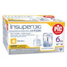 Стерильные иголки INSUPEN для инсулиновых ручек, 31G*6мм(0,25*6мм) 100шт. (8003670108207)