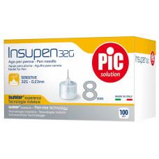 Стерильные иголки INSUPEN для инсулиновых ручек, 32G*8мм(0,23*8мм) 100шт.