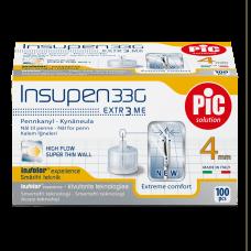 Стерильные иголки INSUPEN для инсулиновых ручек, 33G*4мм(0,20*4мм) 100шт. (8058090007340)