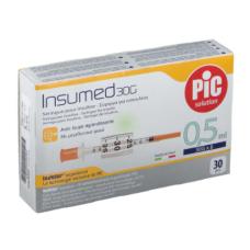 Стерильный инсулиновый шприц INSUMED U-100 0,5мл с иголкой 30G*8мм 30 штук 8058090005360