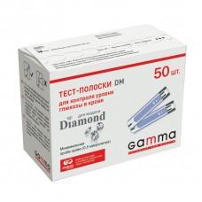Тест-полоски Gamma Diamond. 50 тест-полосок. Срок 05.2019
