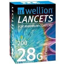Ланцеты Wellion 28G 0.37мм 200 шт. Австрия (9120015780146)