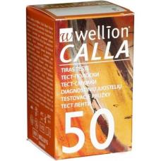 Тест-полоски Wellion Calla 50 шт. в 1 флаконе для определения глюкозы в крови глюкометром веллион калла (9120015780825)