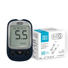 Глюкометр NewMed Neo + 50 тест-полосок. Доступная стоимость. Отличная точность.