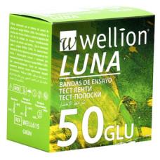 Тест-полоски Wellion Luna Duo 50 шт. в 2 флаконах по 25 шт. для определения глюкозы в крови глюкометром веллион луна дуо (9120015783604)