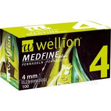 Универсальные иглы Wellion Medfine plus для инсулиновых шприц-ручек 4мм (32G x 0,23 мм) 100шт (9120015781754)