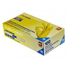Перчатки STYLE LEMON нитриловые без пудры 100 шт/уп