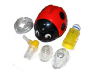 Детский компрессорный ингалятор ЛЕЛЛА (Lella) - небулайзер в виде божьей коровки