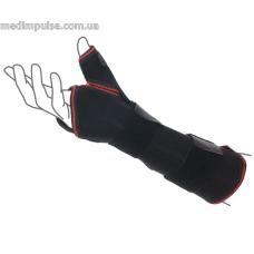 Шина на лучезапястный сустав с фиксацией пальца ReMed R8303 чёрный, серый