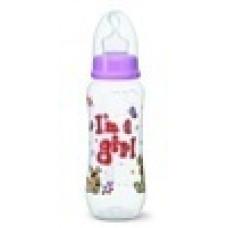 Бутылочка для девочек I am a girl, 250 мл., стандартное горлышко- bibi