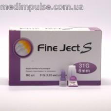 Инсулиновые иглы Fine Ject (Файн Джект) 6 мм