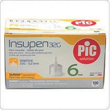 Стерильные иголки INSUMED для инсулиновых ручек, 31G*6мм(0,25*6мм) 100шт.