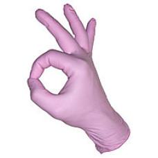 Перчатки STYLE COLOR STRAWBERRY нитриловые без пудры 100 шт/уп