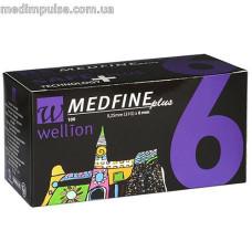 Универсальные иглы Wellion Medfine plus для инсулиновых шприц-ручек 6мм (31G x 0,25 мм)