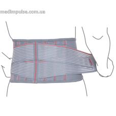 Пояс поддерживающий с ребрами жесткости ReMed R3205 серый