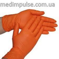 Перчатки STYLE COLOR ORANGE нитриловые без пудры 100 шт/уп