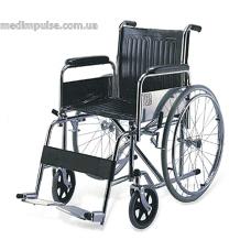 Инвалидная коляска с фиксированной подставкой для ног и съемными подлокотниками (арт. KY983)