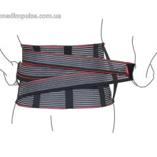 Корсет поддерживающий с дополнительной фиксацией (со сменными ребрами жесткости) (арт. R4204) чёрный