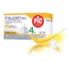 Стерильные иголки INSUMED для инсулиновых ручек, 33G*4мм(0,20*4мм) 100шт.