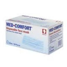 Маска защитная MED COMFORT 3-слойная с ушными петлями