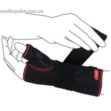 Бандаж на лучезапястный сустав с ребром жесткости (с фиксацией пальца) ReMed R8304 чёрный, серый