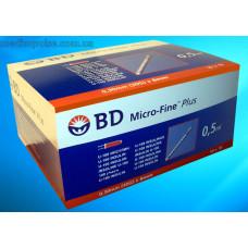Шприци BD Micro-Fine Plus U-100i 0,5мл 30G 8mm, 10 шт/уп