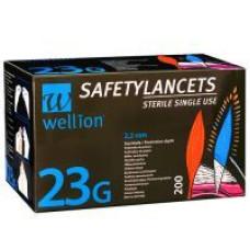 Безопасные одноразовые ланцеты Wellion Calla 23G, 200 шт.