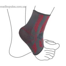 Бандаж на голеностопный сустав вязанный эластичный ReMed R7104 серо-красный