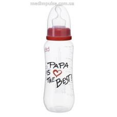 Бутылочка Papa is the best, 250 мл., стандартное горлышко - bibi