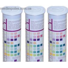 Тест-полоски URISCAN (урискан) U41 GEN 11 (кровь, билирубин, уробилиноген, кетоны, белок, нитриты, глюкоза, pH, плотность, лейкоциты, аскорбиновая кислота) №100, YD, Корея
