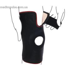 Бандаж на коленный сустав со спиральными ребрами жесткости ReMed R6202 чёрный