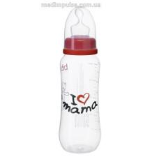 Бутылочка для ребенка I love mama, 250 мл., стандартное горлышко - bibi