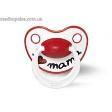 Пустышка силиконовая для новорожденных 0-2 мес 111476, I love mama, 1 шт, bibi new 2014