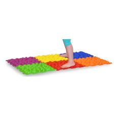 Детский массажный ортопедический коврик Пазл 10-модульный