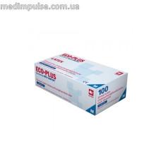 Перчатки ECO-PLUS латексные без пудры хлорированные 100 шт/уп