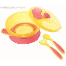 Набор детской посуды Bibi (красный)