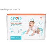 Впитывающие пеленки OVO, 60x90 см, 1840 мл, 30 од., PO609030 20%