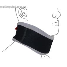 Шейный бандаж с регулируемой фиксацией (ШИНА ШАНЦА) (арт. R1103) чёрно-серый