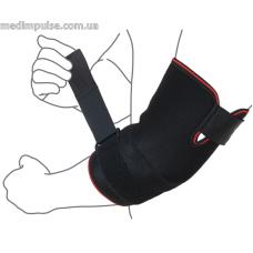 Бандаж на локтевой сустав (с дополнительной фиксацией) (арт. R9203) чёрный, серый