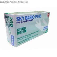 Перчатки SKY BASIC-PLUS нитриловые без пудры 200 шт/уп