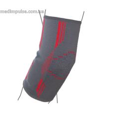 Бандаж на локтевой сустав вязанный эластичный ReMed R9102 серо-красный
