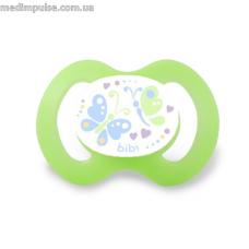 Пустышка силиконовая для новорожденных 0-2 месяца Бабочки, форма вишенка, 112363