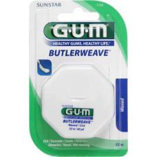 Зубная нить GUM ButlerWeave WAXED, вощеная, 55 м